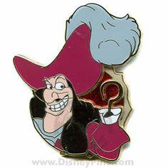 disney captain hook collector's pin