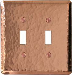Hammered Polished Copper Light Switch Plates, Outlet Covers, Wallplates This would look great in my mom's kitchen with her copper vent hood.