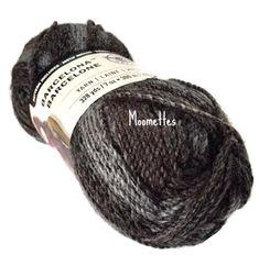 Loops & Threads Barcelona Yarn Onyx Black Gray Grey Bulky #5 Acrylic 200g 7 oz