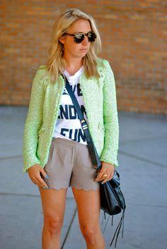 Zara jacket via heather in a candy shop
