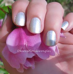 swatch nail polishes grey