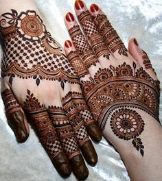 We have got a list of top Mehndi designs for Hand. You can choose Mehndi Design for Hand from the list for your special occasion. Henna Hand Designs, Dulhan Mehndi Designs, Mehandi Designs, Mehndi Designs Finger, Mehndi Designs For Girls, Mehndi Designs For Beginners, Modern Mehndi Designs, Mehndi Design Pictures, Wedding Mehndi Designs