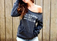 Live  Ecofriendly off the shoulder sweater in by EnterTheSun, $38.00