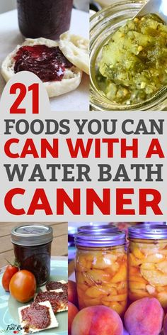 21 Foods You Can Preserve in a Water Bath Canner Water bath canning is one of the easiest ways to preserve food. Here are 21 foods you can preserve using a water bath canner. Great for food preservation for beginners- includes links to canning recipes Canning Water, Easy Canning, Canning Tips, Canning Tomatoes Water Bath, Canning Food Preservation, Preserving Food, Preserving Tomatoes, Konservierung Von Lebensmitteln, Home Canning Recipes