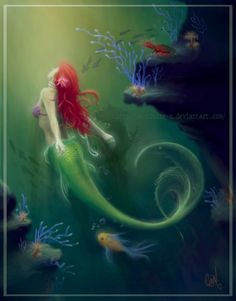 The Little Mermaid from a more realist perspective. Beautiful. By DeviantArtist: o-LilSweets-o