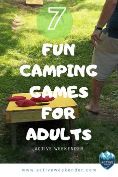 7 Fun Camping Games for Adults Upgrade your experience with one of these fun games for adults. Camping Party Activities, Cabin Activities, Fun Outdoor Activities, Things To Do Camping, Camping Friends, Camping Gear, Camping Guide, Camping Glamping, Diy Camping