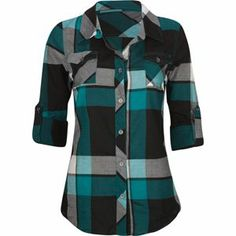 A fashion look from July 2013 featuring cotton tank tops, buffalo plaid shirt and leather jeans. Browse and shop related looks. Blue Long Sleeve Tops, Long Sleeve Shirts, Cute Shirts, Plaid Shirts, Cotton Shirts, Flannels, Buffalo Plaid Shirt, Look Chic, Visual Kei