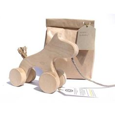 Natural Eco Wooden Organic Kids Toy Plain Horse Hand Made