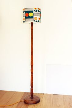 Vintage 1930s Wooden Standard Floor Lamp Base With By Emmalovesx