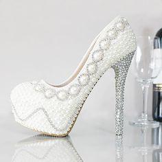 Hot New Women s Pearl Crystal Diamond High Heel Ladies Wedding Bridal Prom  Shoes Price 0956c3de4b0d