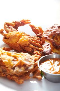 Louisiana Fried Soft Shell Crab. One of the best things you'll ever put in your mouth! Yum!!!
