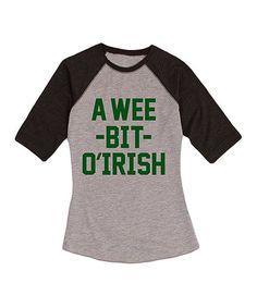 Athletic Heather & Black 'Wee Bit O' Irish' Raglan Tee