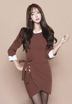 Basic Outfits, Dress Outfits, Yu Jin, Tight Dresses, Dream Dress, Asian Beauty, Cool Girl, Korean Fashion, Asian Girl