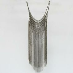 This is a very delicate chainmail gown