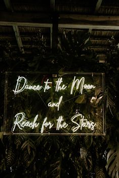 The Neon sign for the dinner venue ∙ Planning, designing by Destination Weddings Tulum ( on IG) Production, Rentals, and Setup by Aquadeco Tulum Rentals ( on IG)
