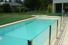 Cercos de piletas | ARKIMETAL Glass Pool Fencing, Pool Fence, Casas Country, Small Pools, Home Projects, My House, Swimming Pools, Sweet Home, Backyard
