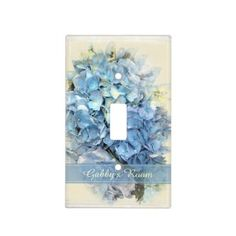 Rippling Tropical Blue Water Light Switch Cover | Zazzle.com Hydrangea Flower, Flowers, Glass Ceiling Lights, Flower Lights, Water Lighting, Custom Lighting, Blossom Flower, Light Switch Covers, Holiday Cards