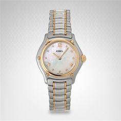 Ebel 1911 Women's Watch With 18K Yellow Gold & Stainless Steel Bracelet