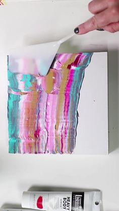 Diy Canvas Art, Canvas Paintings, Contemporary Abstract Art, Diy Painting, Beginner Painting, Painting Tutorials, Outdoor Art, Acrylic Art, Art Lessons