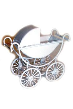 Doll House Pram White