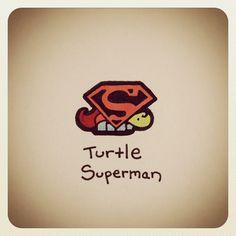 Turtle Superman #turtleadayjune - @turtlewayne- #webstagram