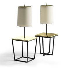 SQUARE and CROSS lamps work as a lamp and as a side table. They are presented in black iron and top in polished brass. Custom sizes and materials available. Made to order in (. Side Table Lamps, Modern Aesthetics, Clever Design, Open Plan Living, Contemporary Furniture, Timeless Design, Lamp Light, Desk Lamp, Furniture Design