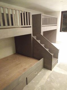 Modern Staircase Design Ideas - The staircase is an incredibly important design element. It's constantly an attractive function, whether it has a typical design or an uncommon . Adult Bunk Beds, Bunk Bed Rooms, Bunk Beds For Adults, Bedrooms, Modern Bunk Beds, Cool Bunk Beds, Attic Renovation, Attic Remodel, Staircase Remodel