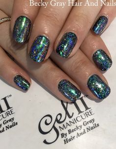 #gelii #manicure #midnightblack #magpieglitter #magpieperriwinkle #magpiestarla #showscratch #scratchmagazine