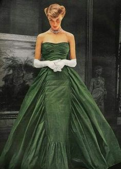 Jean Patchett in gown by Adrian photograph by John Rawlings for Vogue 1948