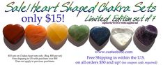New! Heart Shaped Chakra Stones Balancing set of 7