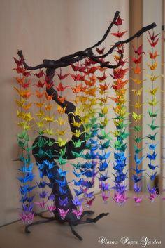 Guía sobre Cómo crear un arco iris de colores DIY Crane Curtain [Video + Instrucciones Detalladas]