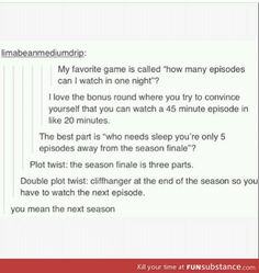 seasons a day keep the friends away: my life with supernatural