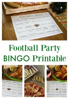 Football Party Bingo