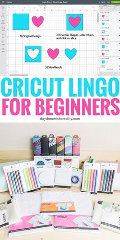 Cricut Lingo – The Most Important Concepts in the Cricut WorldHello Daydreamers!I thought it would be fun to write a Cricut Dictionary with a brief description of some of the essential concepts in the Cricut Cricut Explore Projects, Cricut Explore Air, Vinyl Projects, Craft Projects, Circuit Projects, Graphic Projects, Sewing Projects, Cricut Ideas, Cricut Tutorials