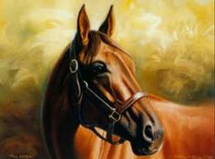 BEAUTIFUL HORSE PAINTING LOOKS JUST LIKE A REAL HORSE.