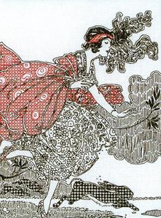 Windswept Anchor Blackwork Embroidery Kit