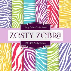 Zesty Zebra Digital Paper DP1408