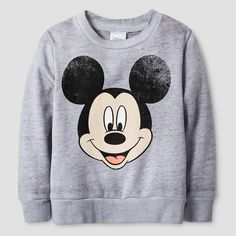 Mickey Mouse Toddler Boys' Burnout Crew Fleece 4T - Heather Grey : Target