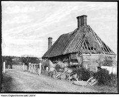 An poster sized print, approx (other products available) - ROBERTSBRIDGE COTTAGE, Salehurst, East Sussex. A half-timbered cottage in a poor state of repair. Photographed between 1857 and - Image supplied by Historic England - Poster printed in the USA Fine Art Prints, Framed Prints, Canvas Prints, South East England, Historical Images, East Sussex, Photographic Prints, Gifts In A Mug, Poster Size Prints
