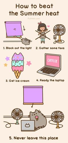 Pusheen - How to beat the summer heat