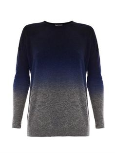 VINCE Dip dye wool-cashmere sweater