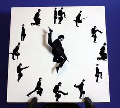 Monty Python Ministry of Silly Walks Clock 8x8 in. by NerDecor, $34.00