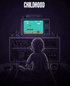 Nintendo first appears - I made a best friend largely because he had one.  Then my brother borrowed an NES from a friend and we played Mario endlessly, and eventually we could win.  NUMB THUMB.