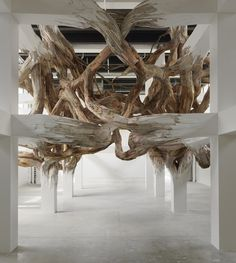 Amazing tree sculpture #art put a bed inside the roots and have the coolest bedroom ever!