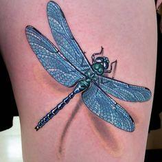 3D Dragonfly Tattoos