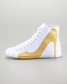 check out ce54b b880d Big City Pump Silhouette Sneaker, Gold