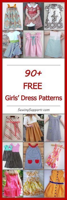 Free Girls' Dress Patterns Lots of free dress patterns for little girls. DIY projects, simple & easy tutorials, sewing for kids.Lots of free dress patterns for little girls. DIY projects, simple & easy tutorials, sewing for kids. Sewing Patterns For Kids, Sewing Projects For Kids, Sewing For Kids, Baby Sewing, Free Sewing, Clothing Patterns, Diy Projects, Pattern Sewing, Knitting Patterns