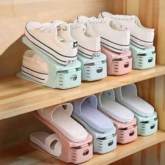 Creative Storage that makes your shoes easy to findYou can find Shoes organizer and more on our website.Creative Storage that makes your shoes easy to find Closet Shoe Storage, Diy Shoe Rack, Closet Shelves, Bedroom Storage, Shoe Racks, Shoe Closet Organization, Bedroom Organization, Shoe Rack For Small Closet, Diy Shoe Organizer