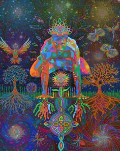 Shop Deep Consonance digital - 2015 Poster created by karmym. Psy Art, Mystique, Yoga Art, Psychedelic Art, Psychedelic Experience, Visionary Art, Animal Tattoos, Funny Art, Trippy