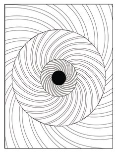 Digital Optical Illusion 3 Coloring Page By GraphicsByShenessa